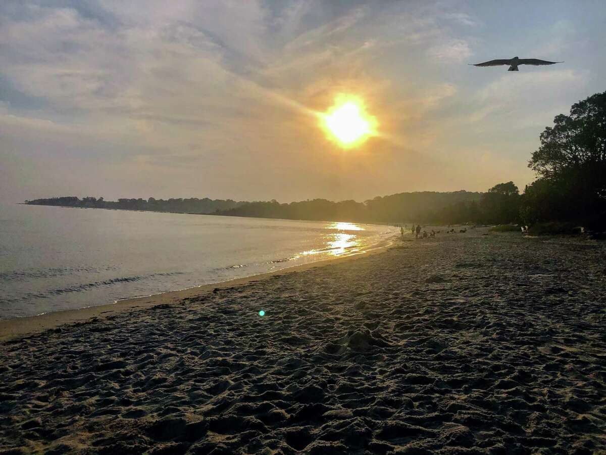 A spokesman for the state Department of Energy and Environmental Protection, said a man died Saturday evening at Rocky Neck State Park in the West Beach area.