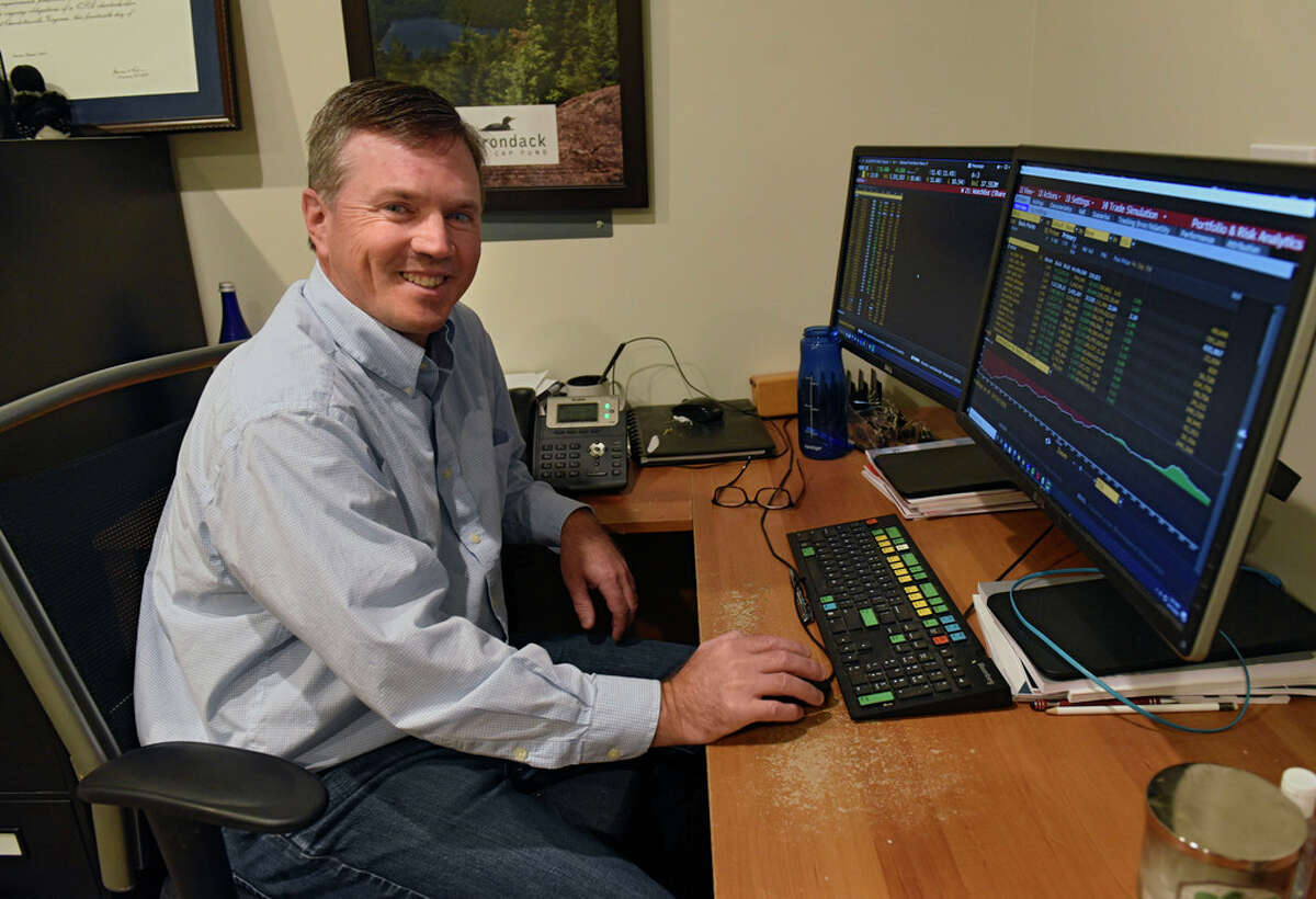 Matt Reiner is seen in his office at Adirondack Funds on Thursday, Oct. 15, 2020 in Guilderland, N.Y. (Lori Van Buren/Times Union)
