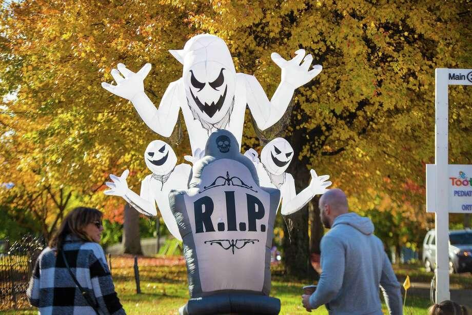 A scary scene from last year's Halloween Walk. Photo: Bryan Haeffele / Hearst Connecticut Media / Hearst Connecticut Media