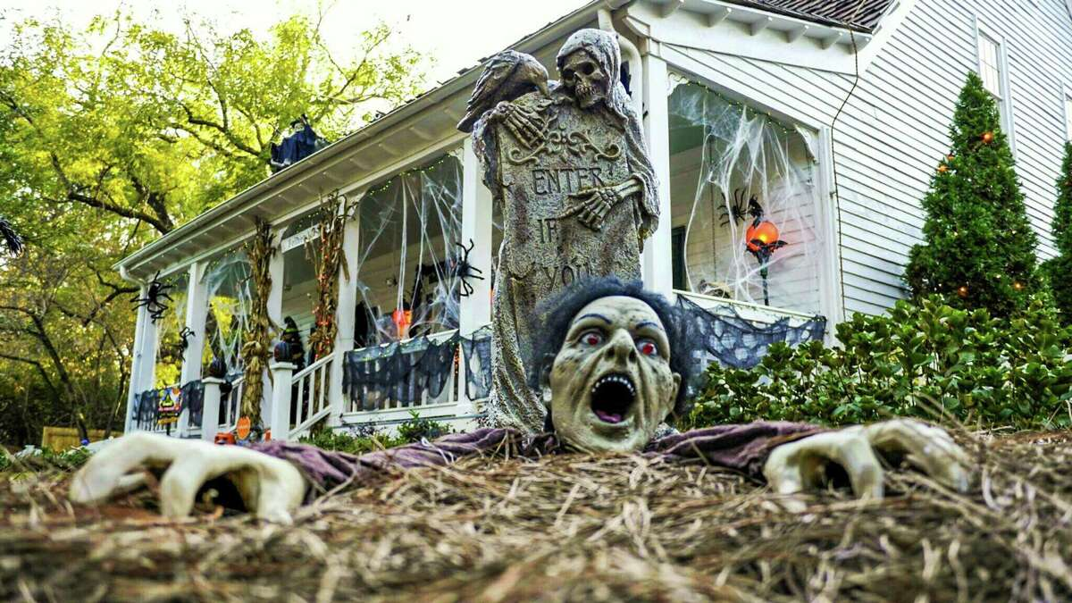Decorate your house to get in the Halloween spirit.