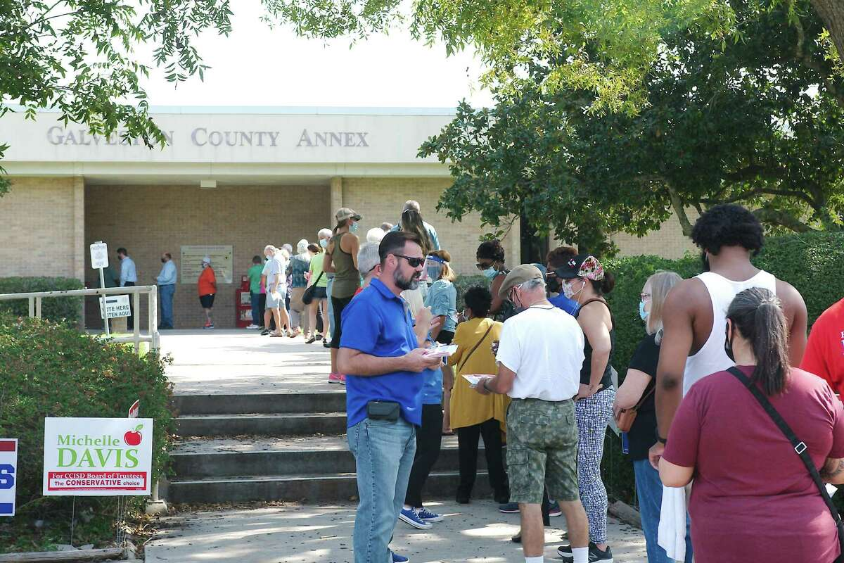 The scene at the annex echoed voter participation at other area sites.