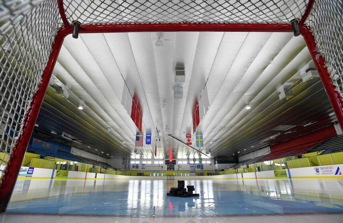 Terry Conner's Rink in Stamford is seen in March. The CIAC set a framework for winter sports seasons, 'solely for scheduling purposes' on Thursday.