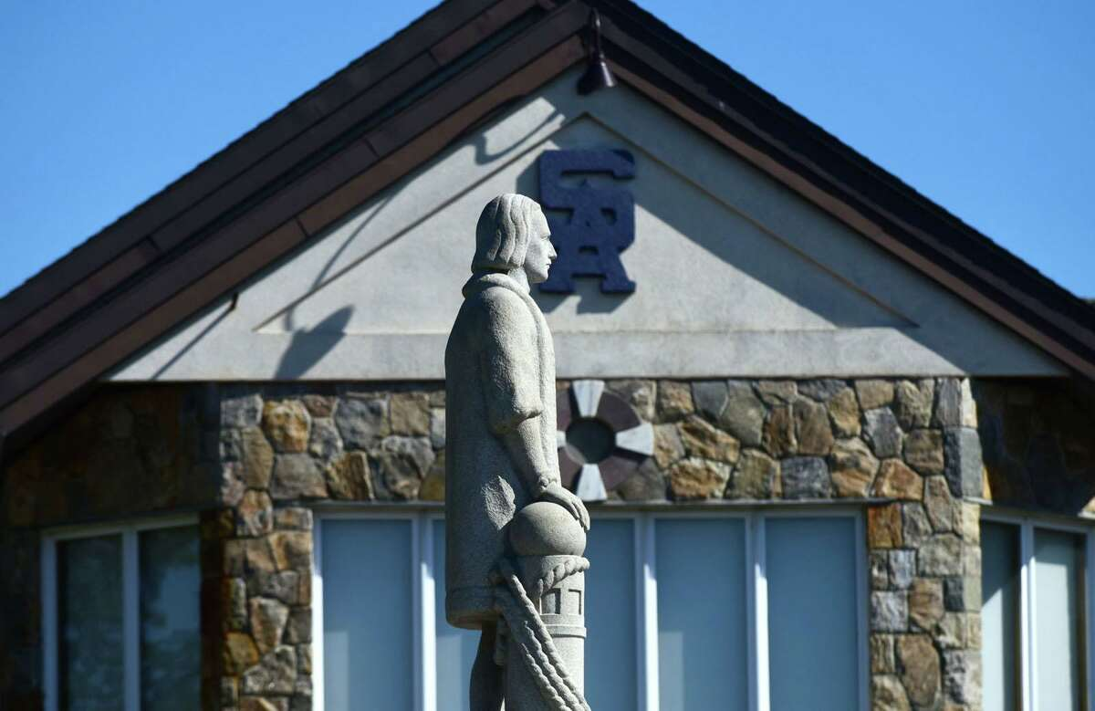Months after the city removed it from Heritage Park, Norwalk's Columbus statue has found a new home at the Club.
