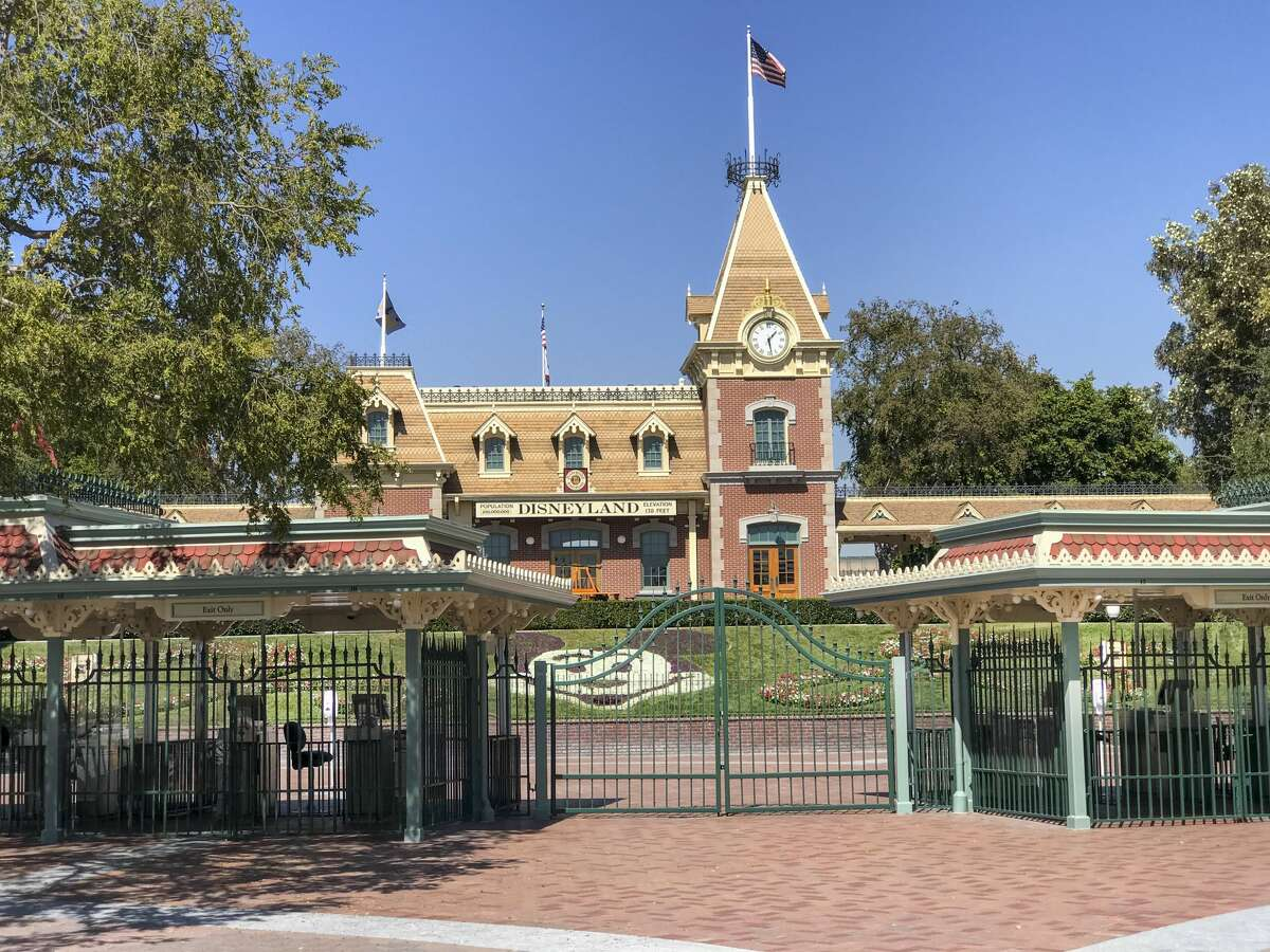ANAHEIM, CA - SEPTEMBER 30: A view of the entrance to Disneyland Park, which has been closed since March 14 due to the coronavirus pandemic.