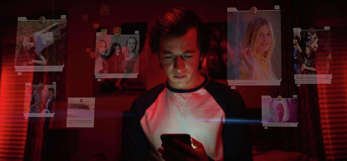 """Skyler Gisondo in the documentary â""""The Social Dilemma."""" (Exposure Labs/Netflix/TNS)"""