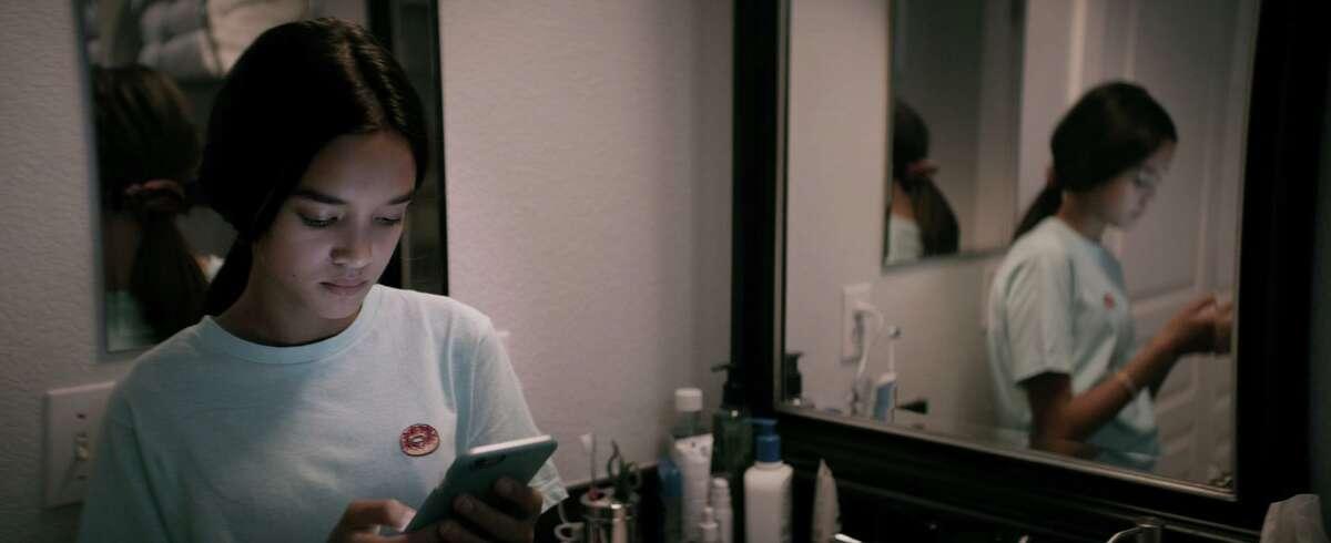 "Sophia Hammons as Isla in ""The Social Dilemma,"" a new documentary premiering Wednesday, Sept. 9 on Netflix."