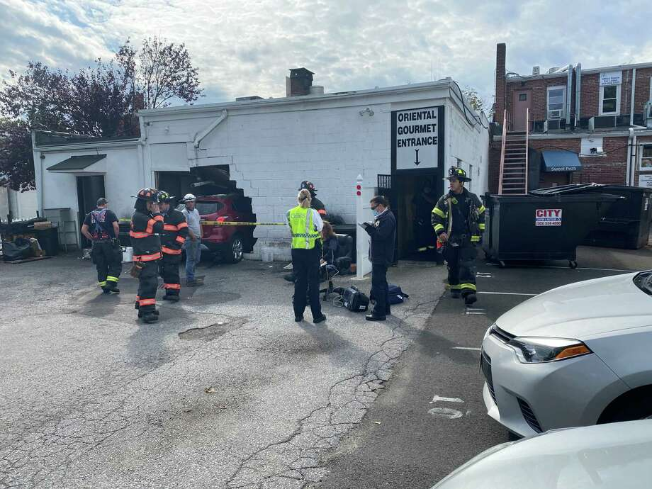 Major damage was sustained at the Oriental Gourmet restaurant when a motorist crashed into the building Oct. 1. Photo: / Contributed