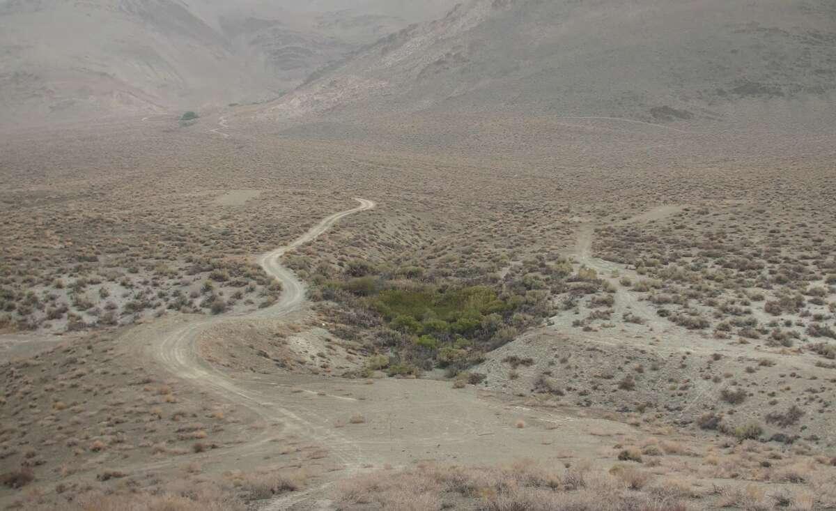 The terrain near Bishop, Calif., where Karlie Lain Gusé was last seen on Oct. 13, 2018.
