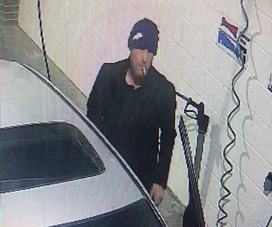 Surveillance cameras caught this image of a man leaving the Jiffi Stop in Barry at the time of a 2019 robbery. Photo: Pike County Sheriff's Department