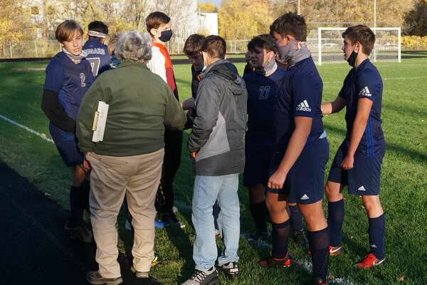 The Crossroads Charter Academy boys' soccer team played in its final game of the season against North Muskegon on Thursday night.