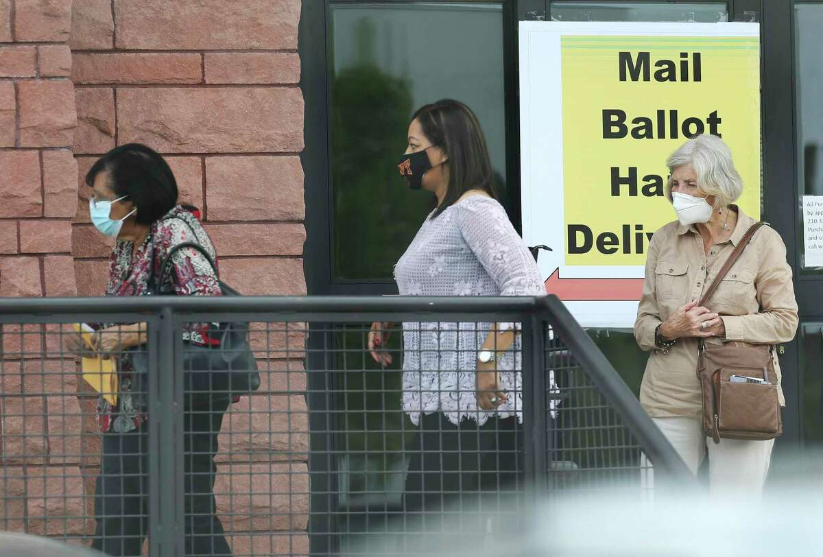 Voters deliver their mail ballots in person at the Bexar County elections headquarters last month. The election remains top of mind for readers.
