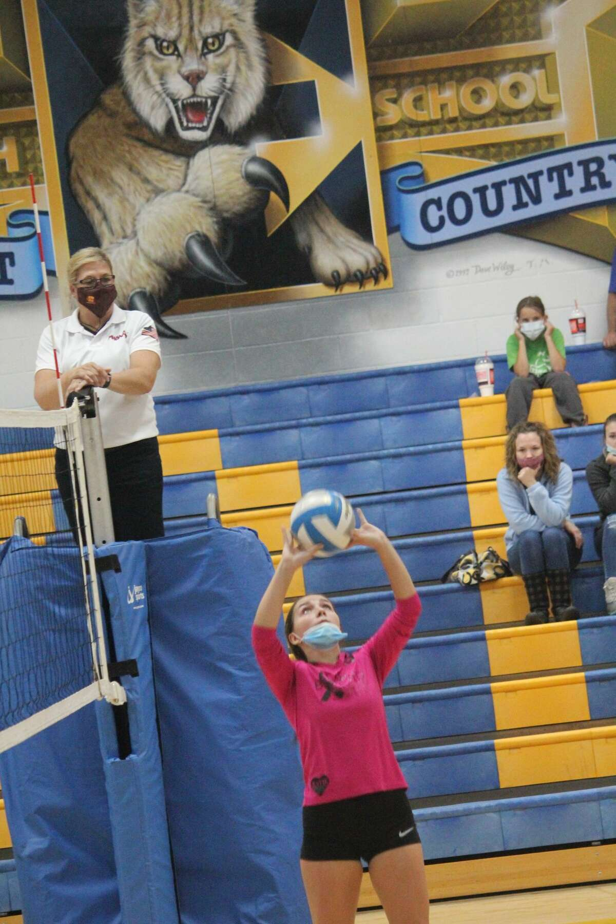 Evart's volleyball team took Pine River to four matches on Thursday before falling.