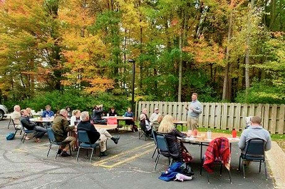 RE/MAX of Midland Realtors recently conducted its annual continuing education class outdoors on a beautiful fall morning. (Photo provided)