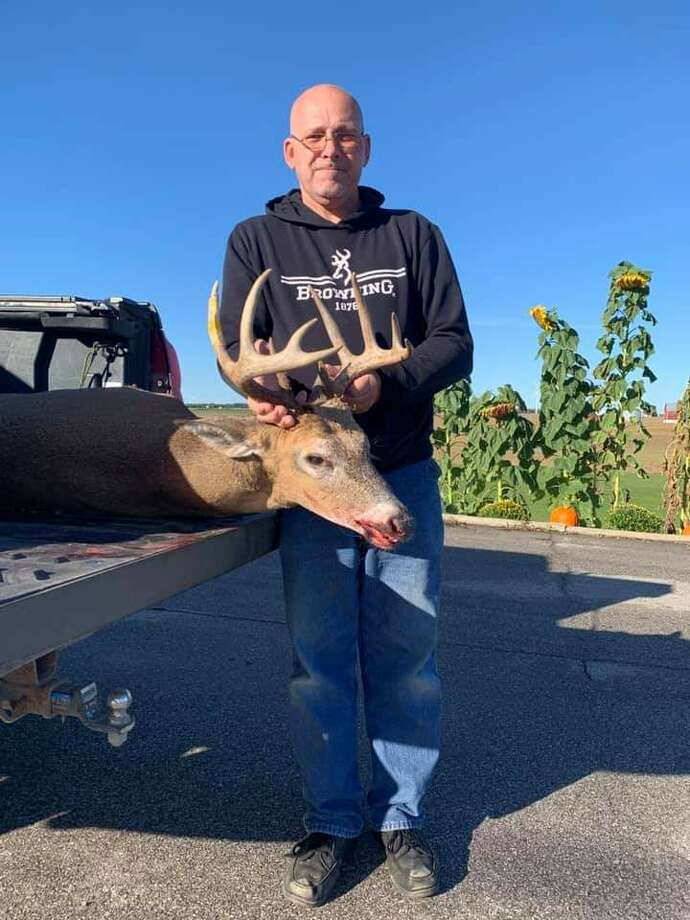 Larry Helm Jr. bagged this 10-point Huron County buck. Photo: Courtesy Photo