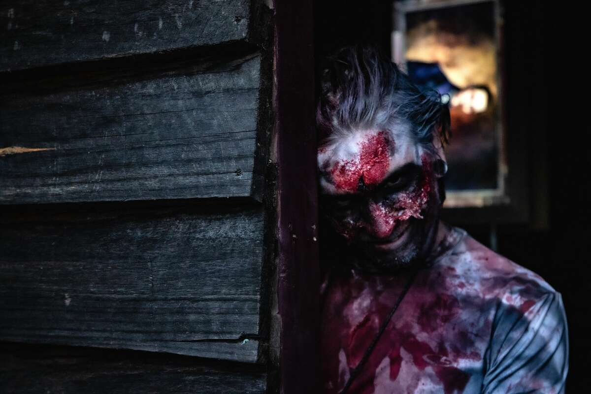 One of the creatures in the Nightmares at Liberty Ridge Farm attraction in Schaghticoke. (Liberty Ridge Farm photo.)