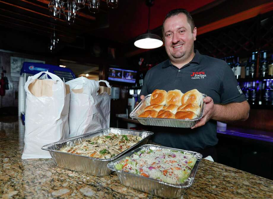 Joe Haliti, owner of Joe's Italian Restaurant, recently completed his goal to serve 50,000 meals to the Montgomery County community. Photo: Jason Fochtman, Houston Chronicle / Staff Photographer / 2020 © Houston Chronicle