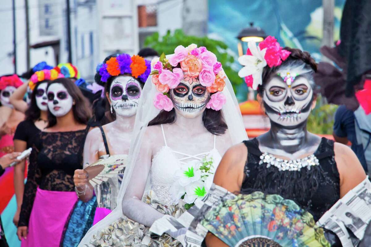 While festivals are canceled, Catrinas will be on hand for family gatherings at the cemetery.