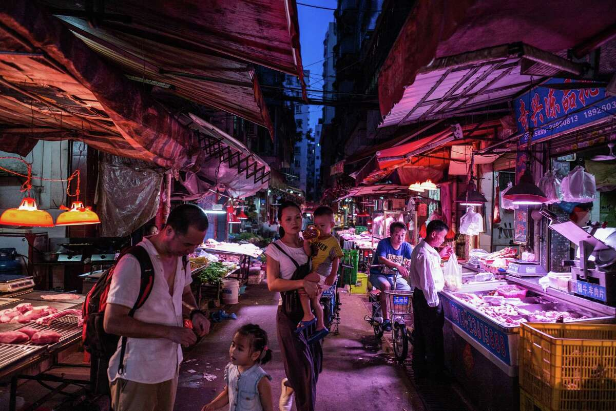 FILE -- A market in Shenzhen, China, July 15, 2016. The coronavirus that has spread from Wuhan has been linked to the sale of live wildlife at a market that experts describe as a perfect incubator for novel pathogens.