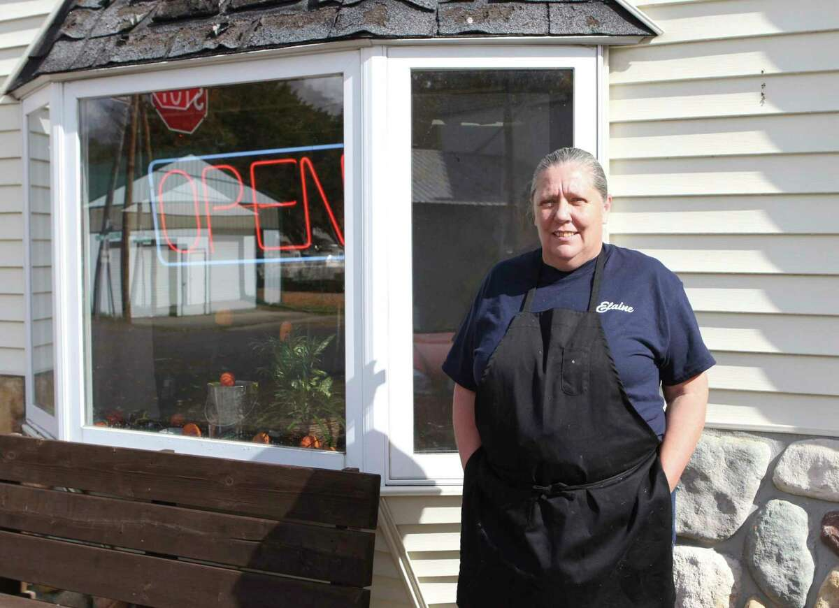 Elaine Frye, owner of the Corner Cafe in Stanwood, said she loves running the restaurant and seeing her customers every day. (Pioneer photo/Taylor Fussman)