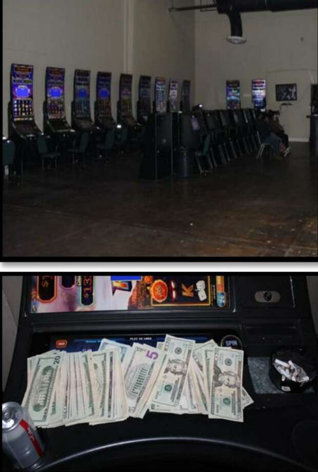 Laredo police said they raided this underground maquinitas establishment and seized $6,917. In addition police cited the manager of the business and three customers. Photo: Courtesy Photo /Laredo Police Department