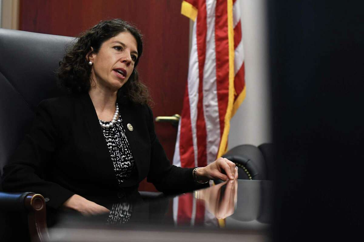 Acting U.S. Attorney Antoinette Bacon is interviewed at her offices on Friday, Oct. 16, 2020, at James T. Foley U.S. Courthouse in Albany, N.Y. She replaced Grant Jaquith as the top federal prosecutor in the 32-county Northern District of New York. (Will Waldron/Times Union)