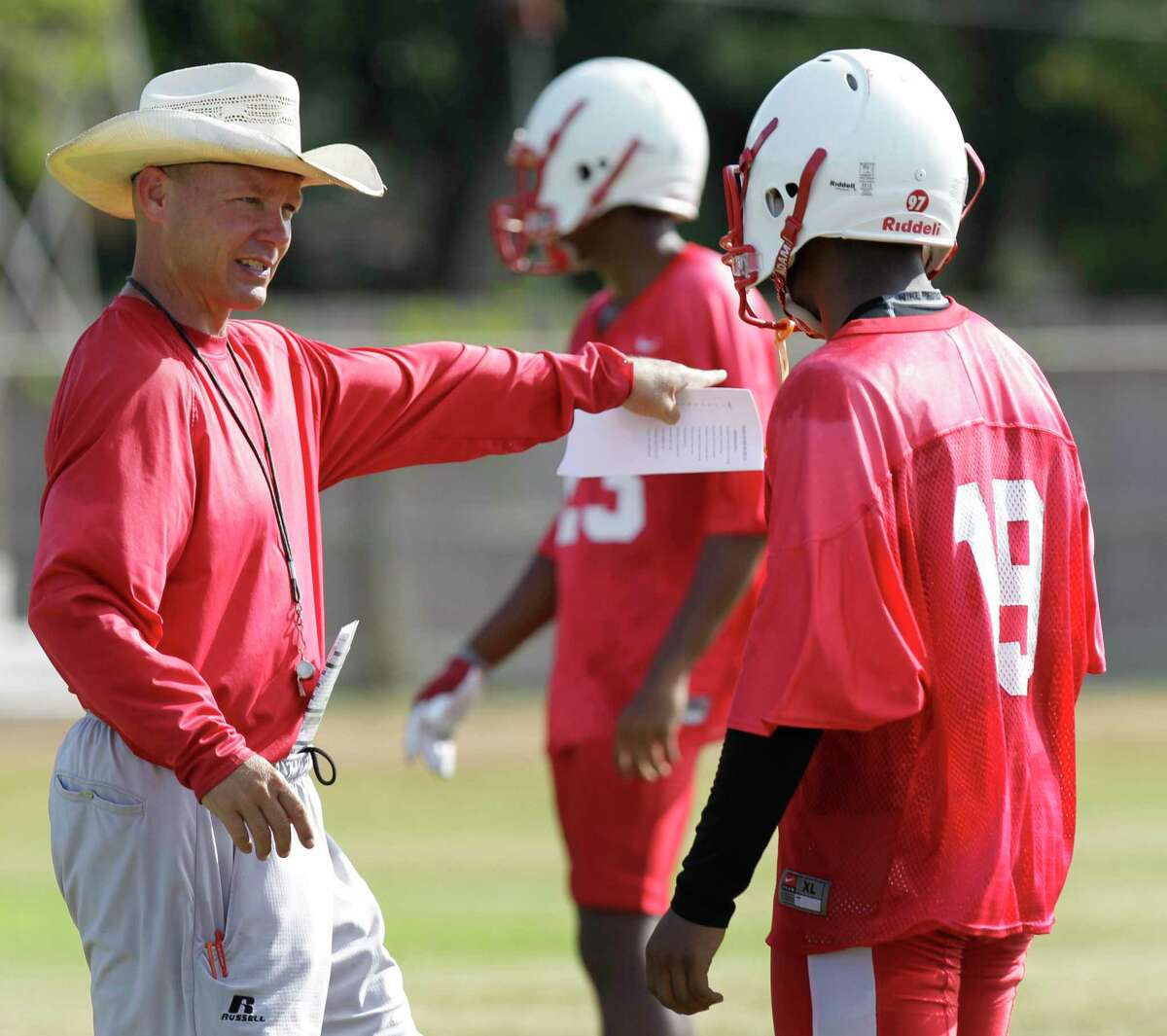 Bellaire head football coach Herb Kunz is shown during practice at Bellaire High School, 5100 Maple St., Monday, Aug. 10, 2015, in Bellaire. ( Melissa Phillip / Houston Chronicle )