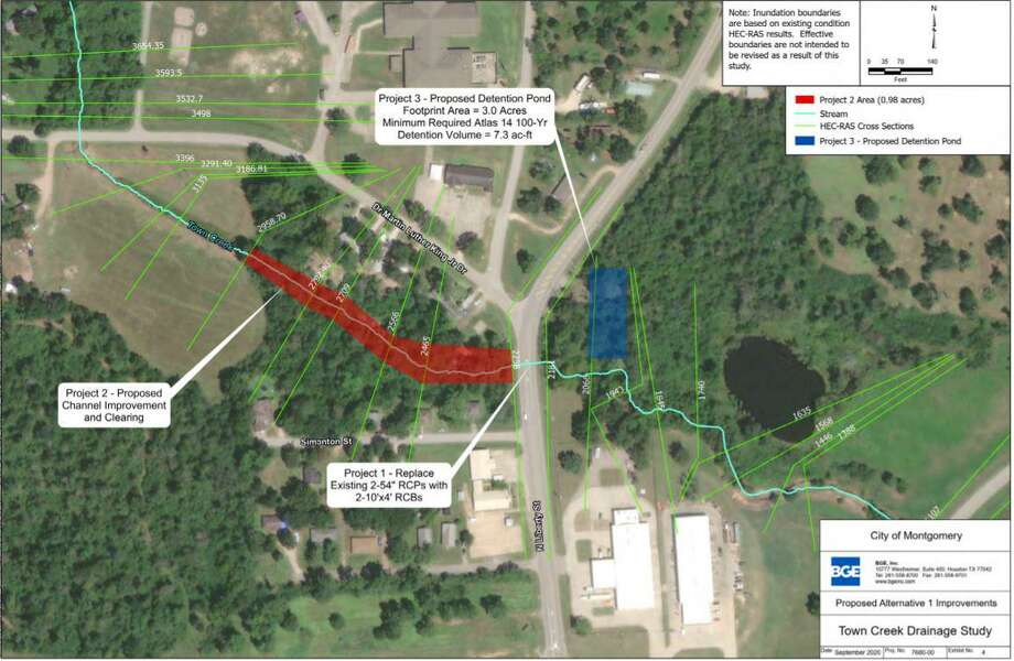 Three projects are being proposed following a Town Creek study in Montgomery. The study was presented to the council on Tuesday during the regular council meeting. Photo: Submitted Photo / Submitted Photo