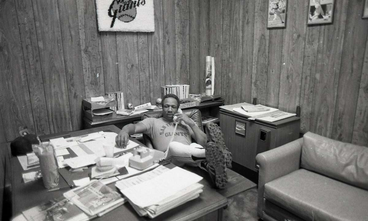 Frank Robinson, shown in his office as Giants manager in 1982, went to McClymonds High before going on to win Most Valuable Player honors in both the National and American leagues. He later became the first African American manager in the major leagues with Cleveland.
