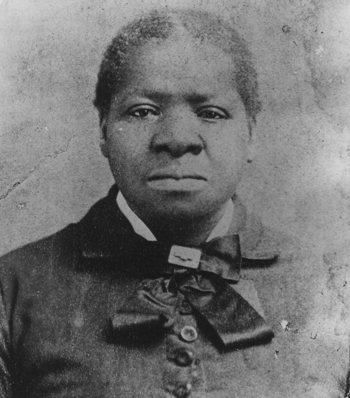 """Mrs. Biddy Mason (1818-1891) was the first African American woman to purchase property in Los Angeles. Photograph circa 1873, according to William David Estrada's book, """"The Los Angeles Plaza: Sacred and Contested Space."""""""