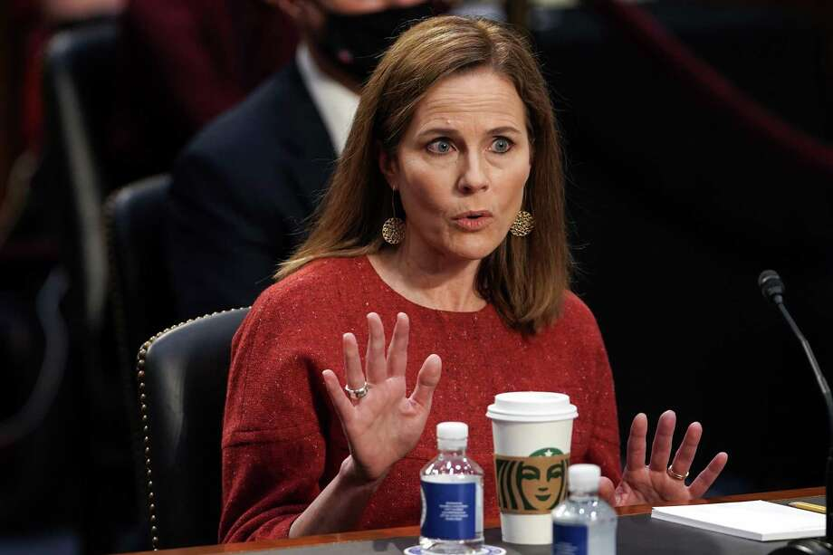 Supreme Court nominee Amy Coney Barrett didn't provide many answers to questions during this week's hearings, but that's not her fault. This is what the U.S. Senate has accepted. Photo: Greg Nash /Getty Images / 2020 Getty Images