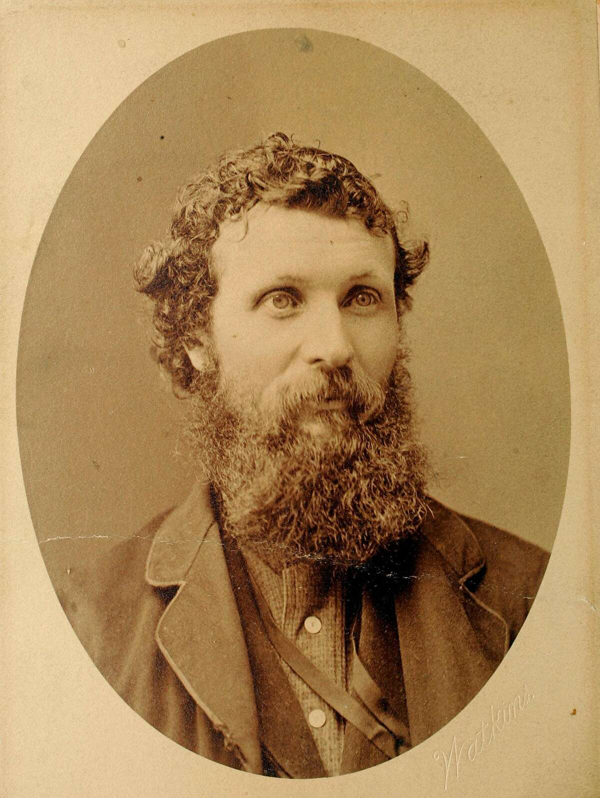 John Muir is shown in this circa 1860s image issued by the Wisconsin Historical Society. The society is publishing a rare collection of letters written by Muir on the society's Web site. The letters span more than 50 years of Muir's life, documenting in his own words how he evolved from a strict Calvinist at the University of Wisconsin-Madison to a mountain-climbing, tree-hugging advocate for all things nature. (AP Photo/Wisconsin Historical Society)