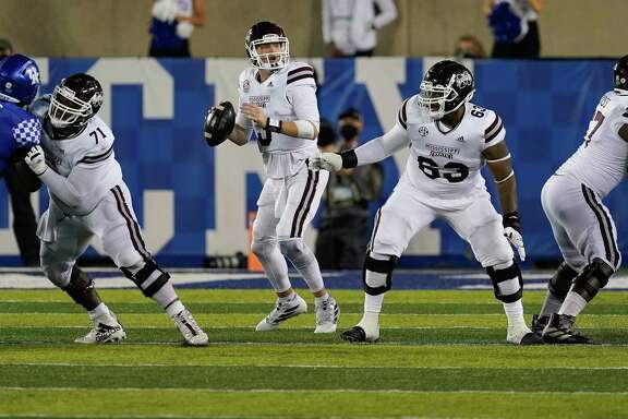 Mississippi State and quarterback K.J. Costello will try to derail Texas A&M on Saturday in Starkville, Miss.