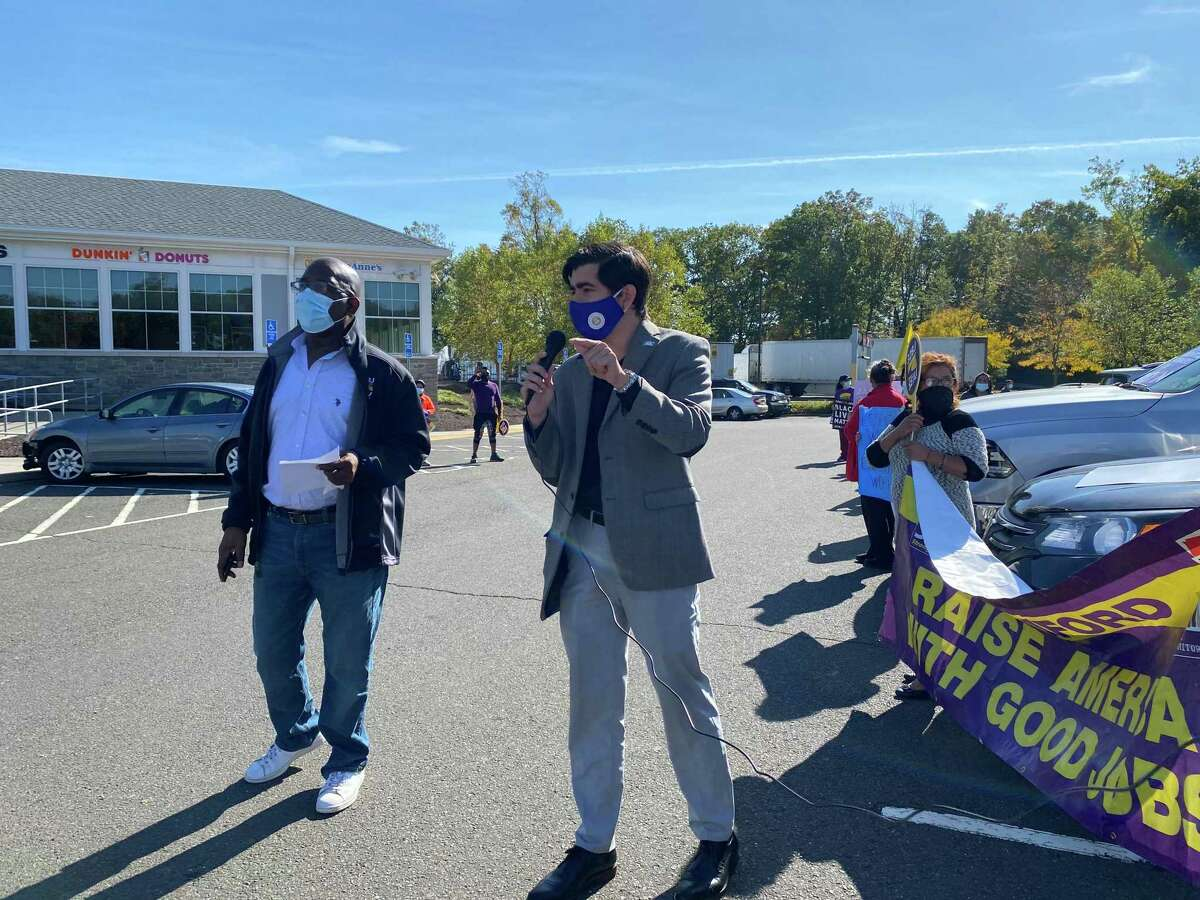 State Rep. Michael DiMassa, who serves New Haven and West Haven, gave his support for the workers and 32BJ.