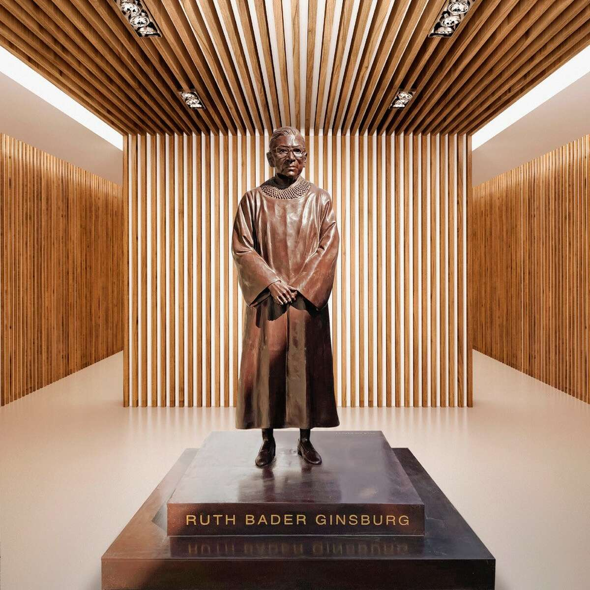 Ginsburg's statue will be unveiled on March 15, 2021, to honor Women's History Month and her 88th birthday.
