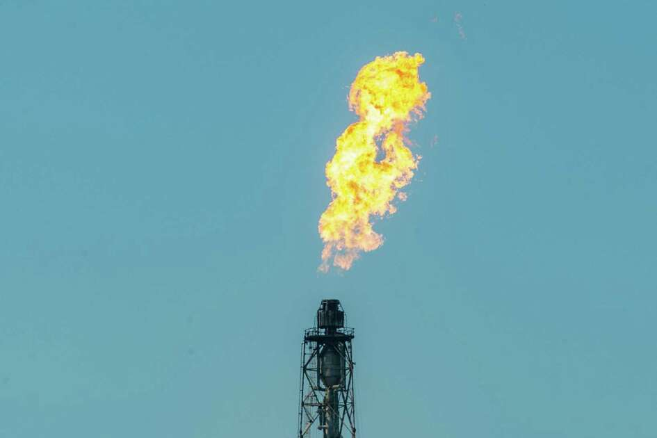 Over the weekend, flaring was a problem at some of the area plants like this one at Chevron Phillips in Port Arthur. Photo made on October 12, 2020. Fran Ruchalski/The Enterprise