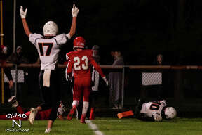 The Harbor Beach varsity football team traveled on Friday night to Marlette, where the Pirates topped the Red Raiders, 42-20.