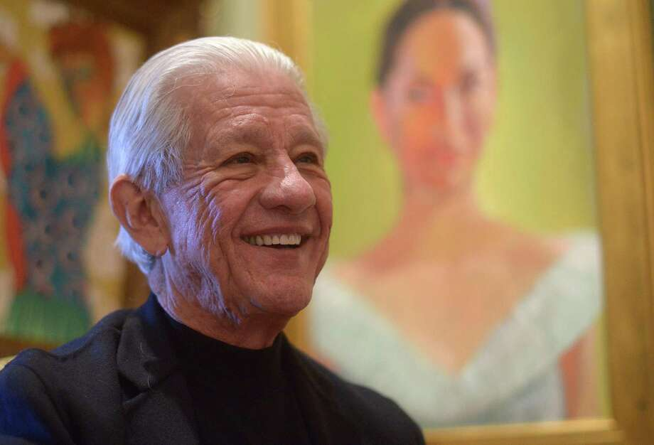 Lionel Sosa, Hispanic advertising pioneer and artist, speaks during an interview on Feb. 3, 2015. Photo: BILLY CALZADA, STAFF / San Antonio Express-News / © 2015 San Antonio Express-News