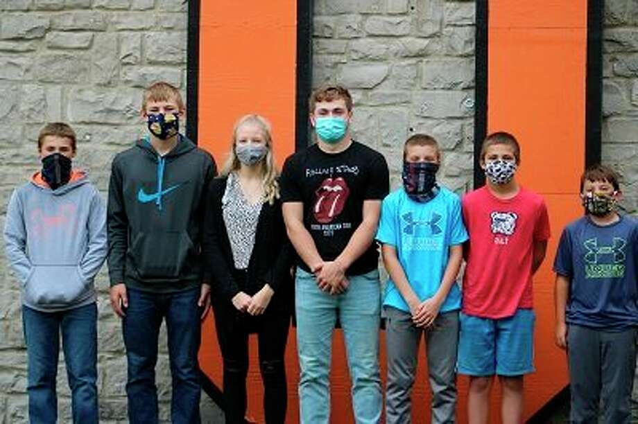 Ubly School recently announced Students of the Month. Pictured is, (from left) Jaxson Susalla grade 9, Logan Volmering grade 10, Emma Smalley grade 11, Nolan VanErp grade 12, Ethan Maurer grade 8, Griffin Messing grade 7 and Brayden Sweeney grade 6. (Submitted Photo)