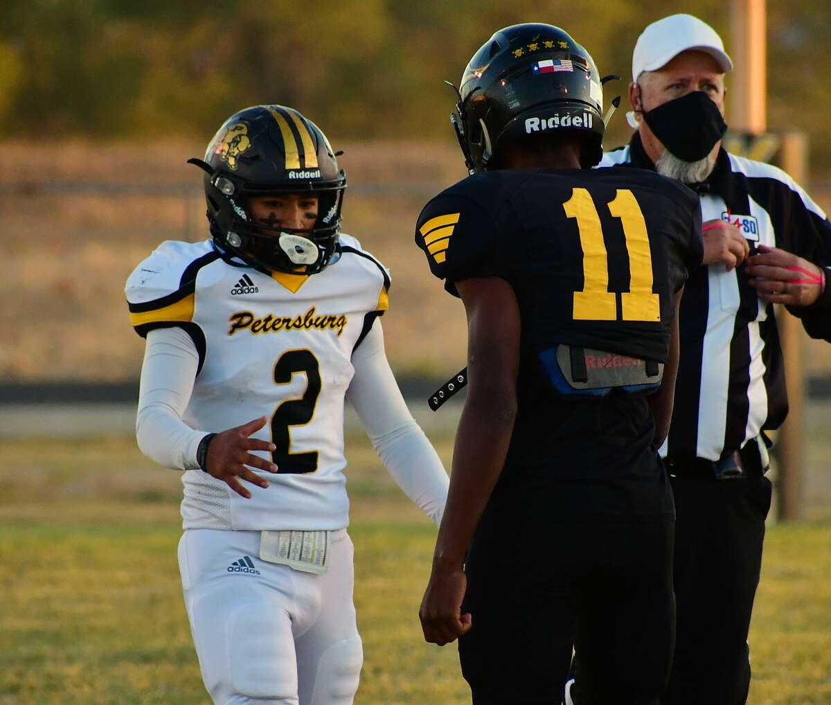 Petersburg pulled away in the second half to defeat Kress 84-44 in a District 2-1A Division I football game on Friday, Oct. 16, 2020 in Kress.