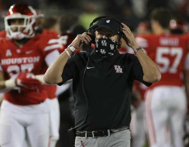 Houston Cougars head coach Dana is photographed during the second quarter against the Brigham Young Cougars Friday, Oct. 16, 2020, at TDECU Stadium in Houston. Photo: Yi-Chin Lee/Staff Photographer / © 2020 Houston Chronicle