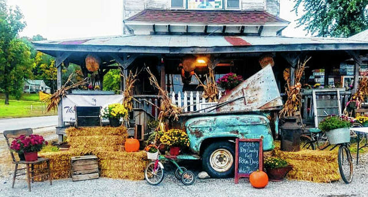 A Pike County business is decorated for fall 2018 and a previous edition of Pike County Fall Pickin Days. The 2020 edition of the event is going on this weekend across Pike County.