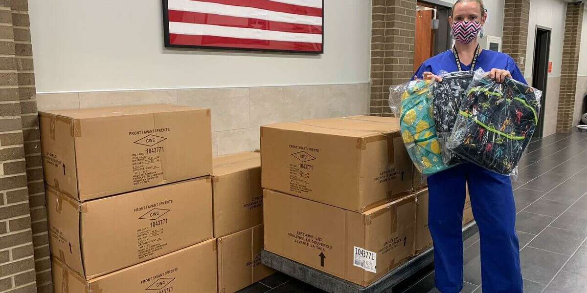 Costco and Walmart sponsored a donation that provided every on-campus student at Epps Island Elementary School with a backpack full of school supplies.
