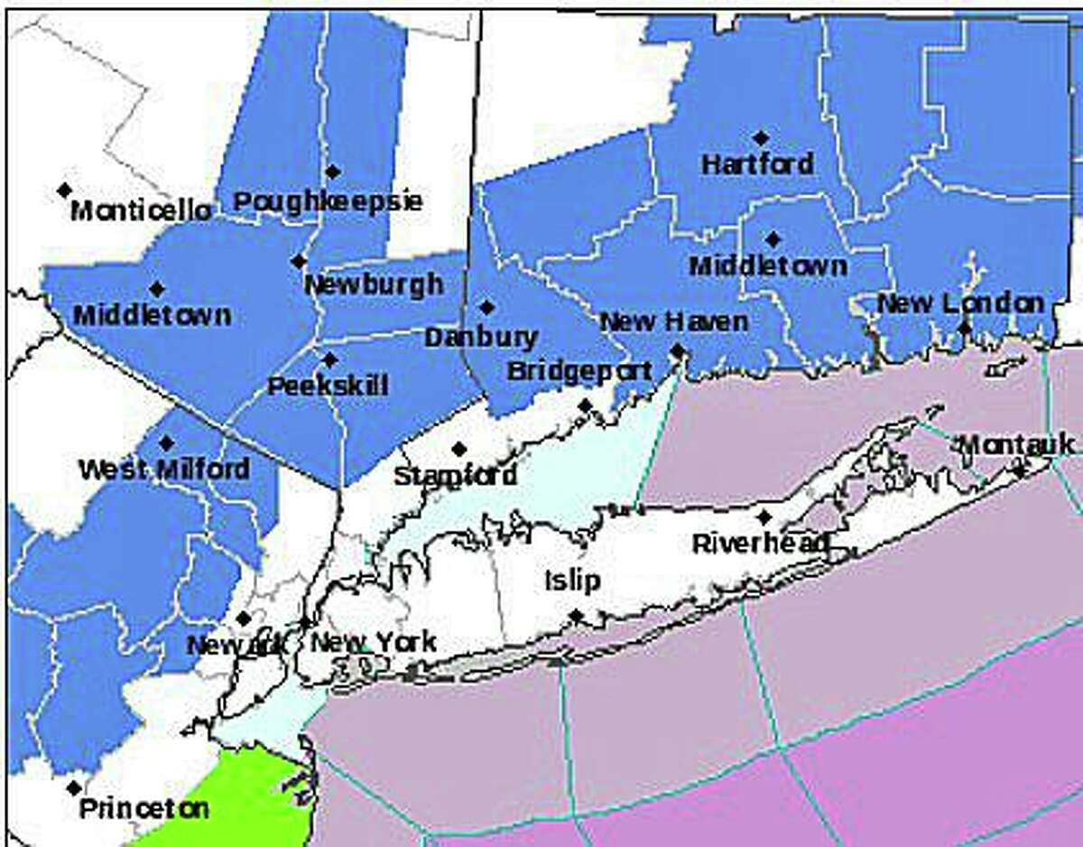 Warmed by the 66 degree temperature of Long Island Sound, the southwest Connecticut shoreline is the only area not included in the frost advisory. From Stratford to Greenwich, the low temperature will be around 40 degrees.