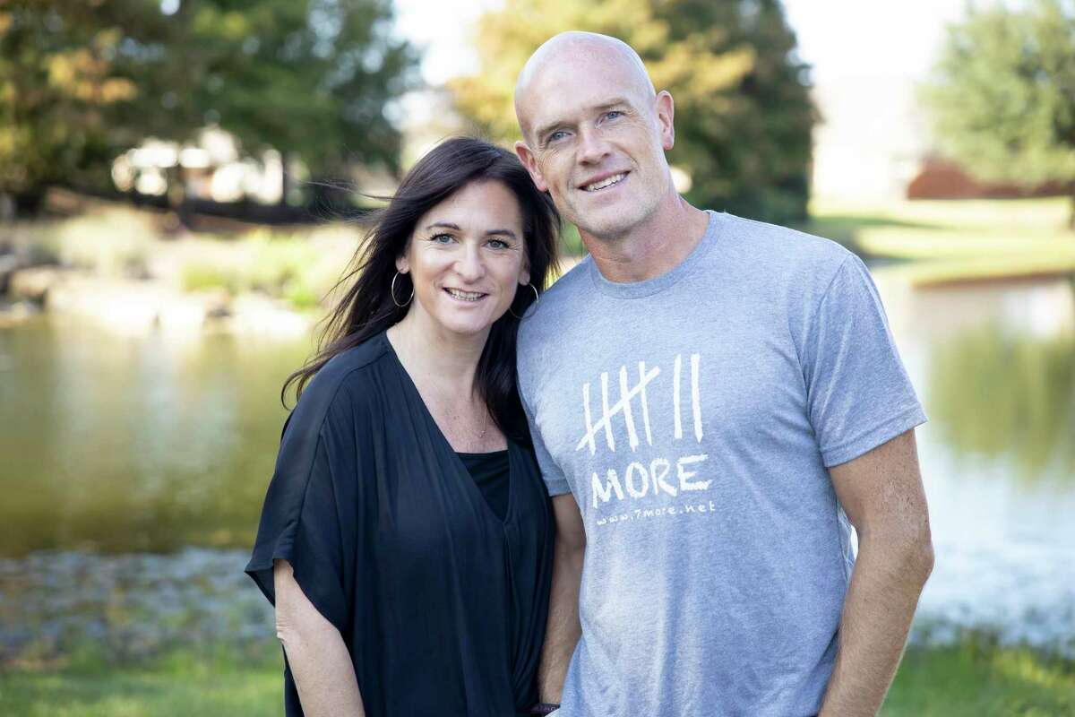 Josh and Debs Walker, the founders of 7More, pose for a portrait near their home in Tomball, Friday, Oct. 16, 2020. The Walkers started the organization in 2010 to help former inmates who were re-entering into society at their point of re-entry offering them food, clothing and access to a phone.