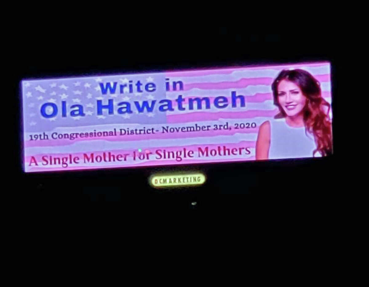 This billboard on Route 88 in Oneonta was put up by the Old Guard, a grassroots group of supporters of Republican Ola Hawatmeh.