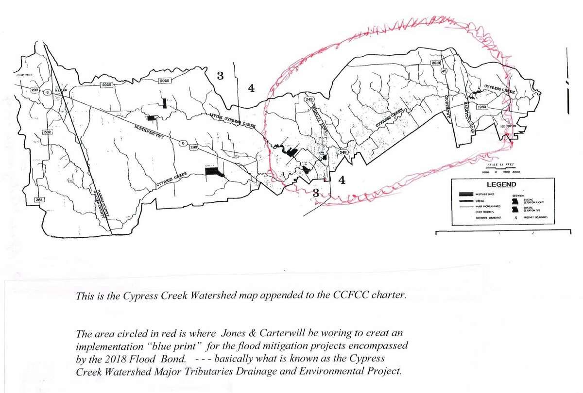 The Jones Carter contract scope map.