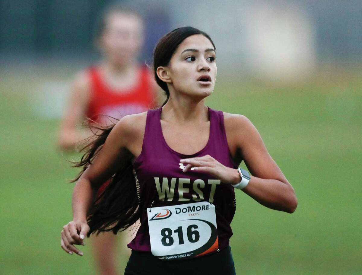 Catherine Benavidez of Magnolia West finished fifth overall in the Run the Dog Pound Invitational cross country meet, Saturday, Oct. 17, 2020, in Magnolia.