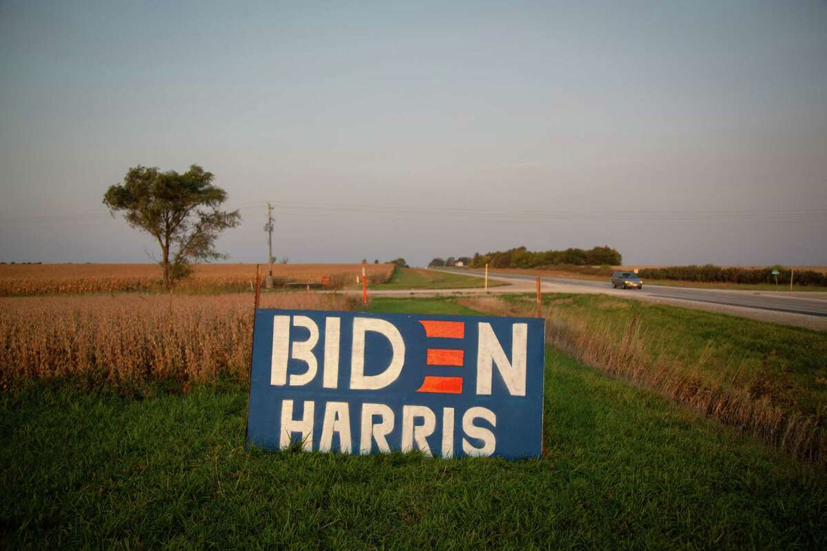 The Biden campaign sees softening support for Trump as an opportunity to reduce the president's margins in deeply conservative and rural areas, such as in Union County, Iowa.