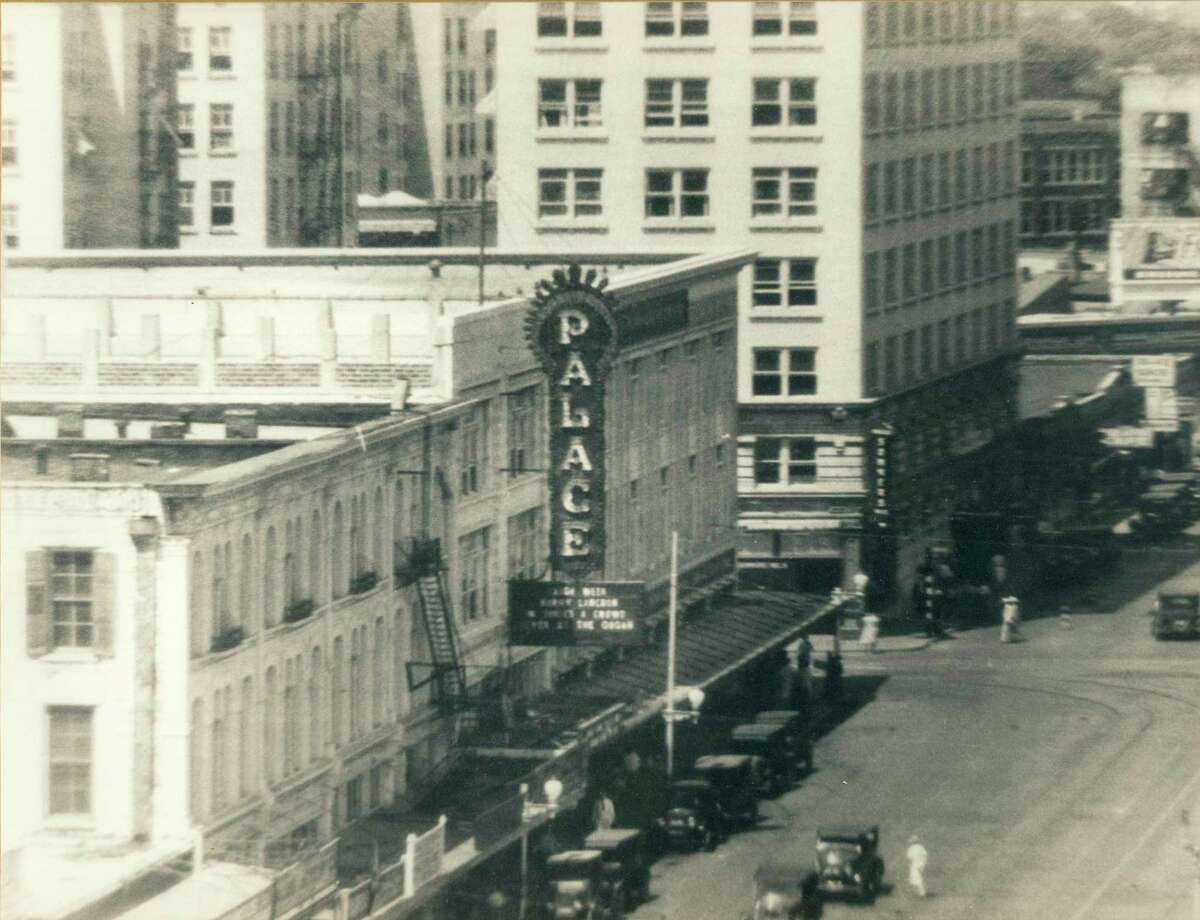 The Palace, opened in 1923, was the first movie theater built by Louis Santikos in San Antonio. Located across from the Alamo, the Palace featured movies, vaudeville, symphony concerts and other entertainment. The uniquely shaped building also had an entrance on Losoya Street.