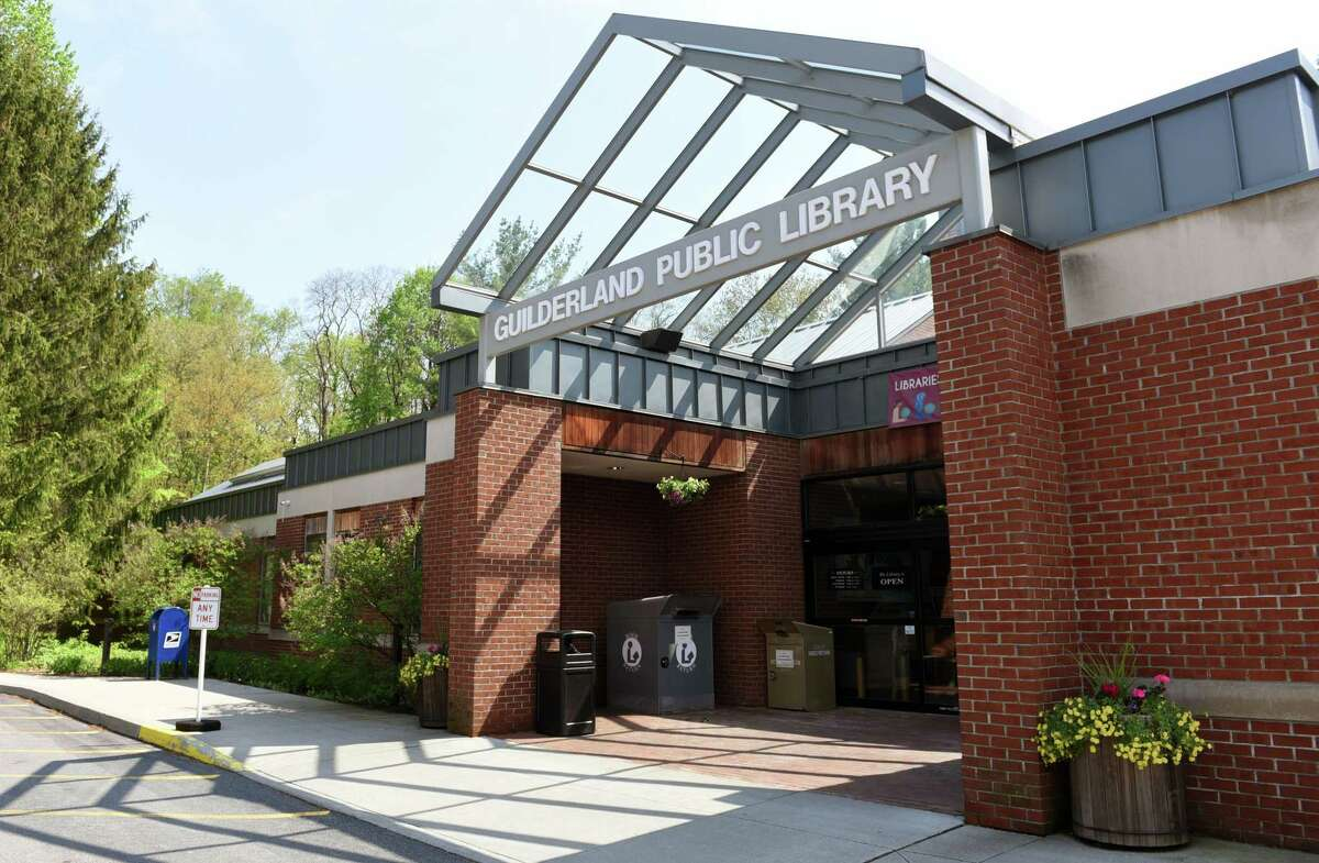 The Guilderland Public Library is located at 2228 Western Ave in Guilderland, NY. (Phoebe Sheehan/Times Union)